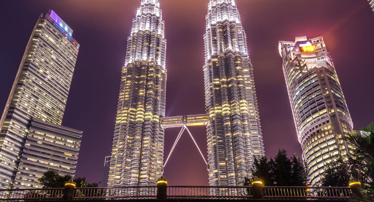 Asia-Pacific , Kuala Lumpur skyline in Malaysia