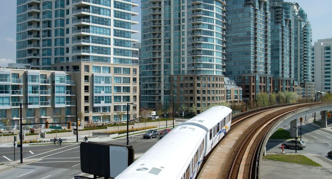 Elevated Light Rail in Metro Area