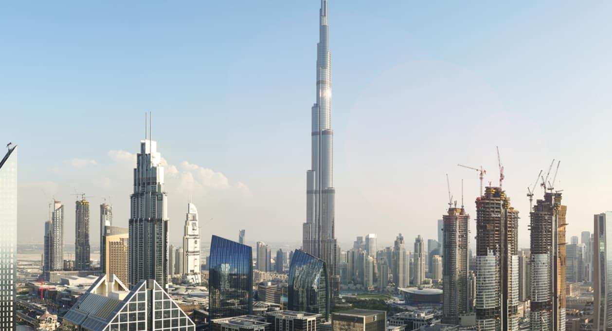 Dubai skyline, Middle East