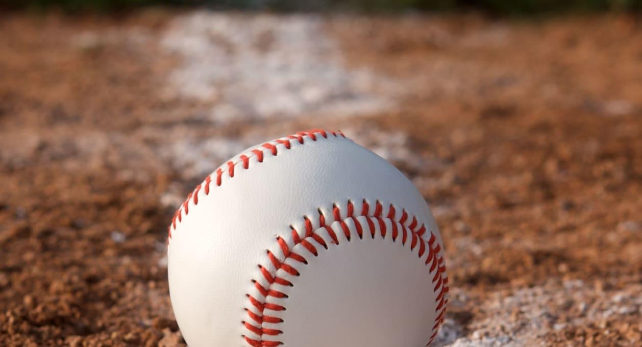 baseball on field