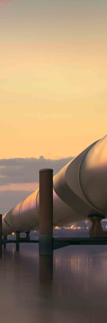 Gas pipeline, LNG
