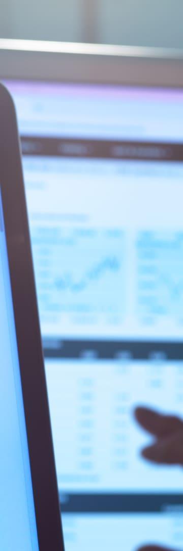 Financial chart on a computer screen