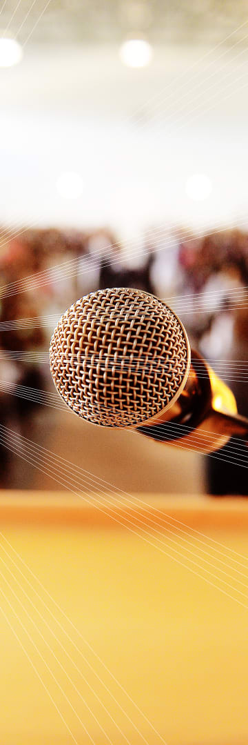 Microphone at event