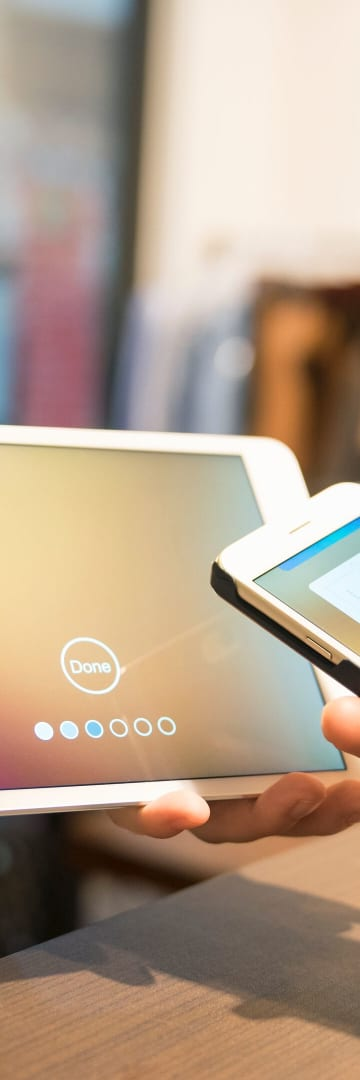 Smart phone payment on tablet, technology