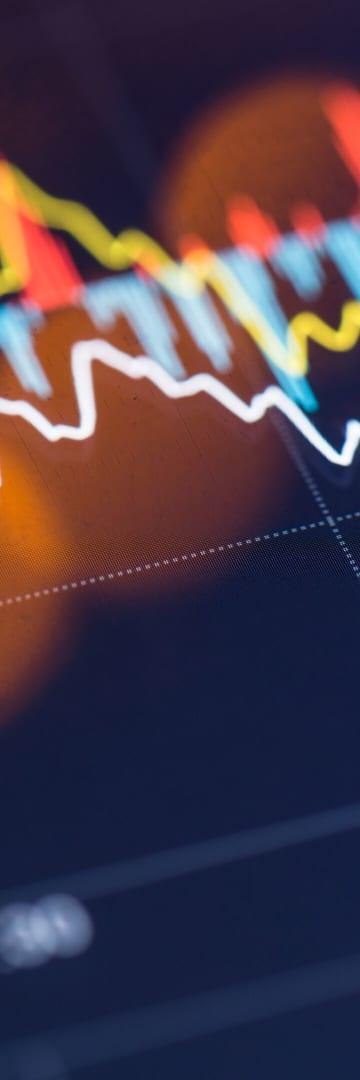 stock chart on digital screen, computer