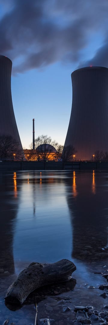 Nuclear power plant, energy industry