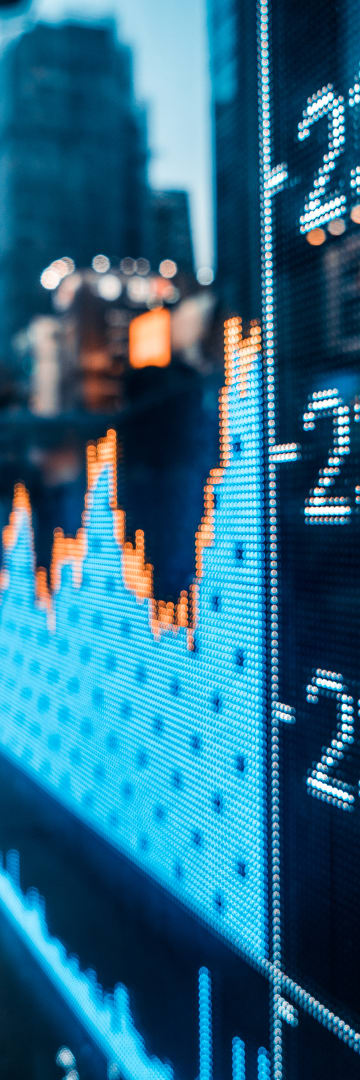 Finance, stock chart