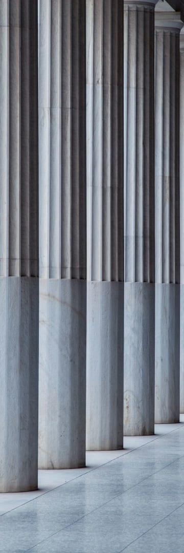 Columns along a walkway