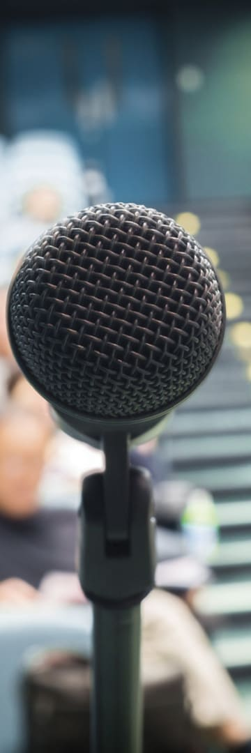 Microphone, speaking event