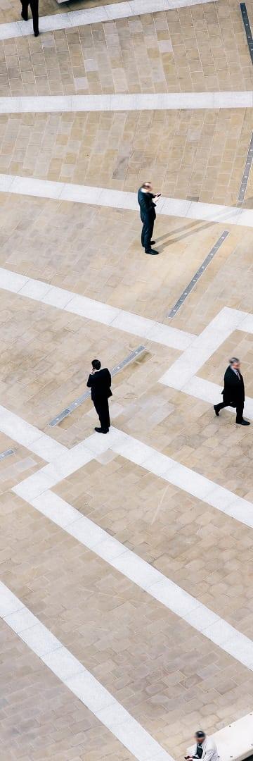 People in a square, investigations, white collar, litigation