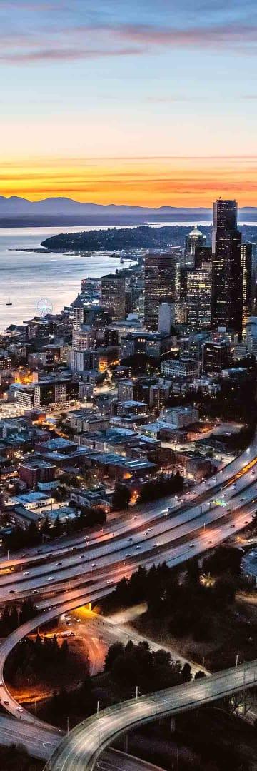 King County, Seattle, Washington skyline
