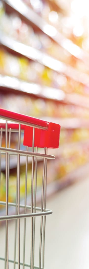Supermarket with cart