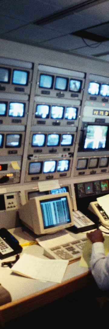 Technology, TV control room