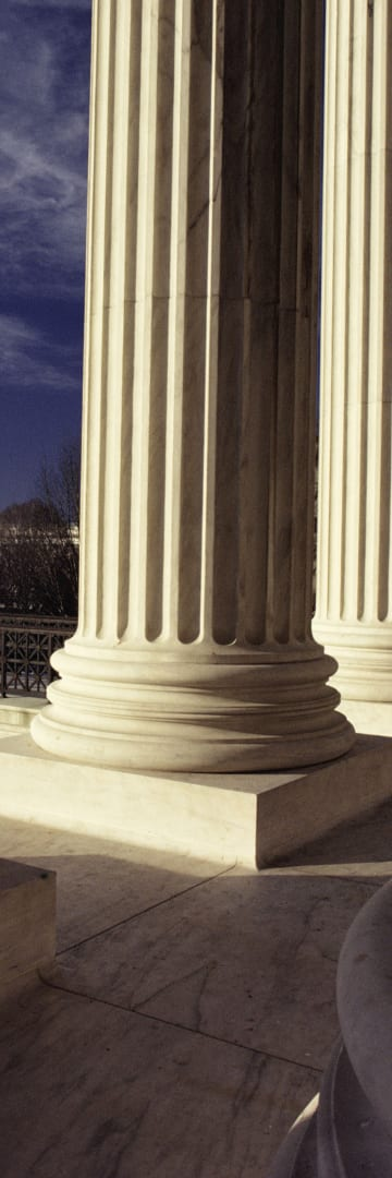 US Supreme Court building column -- United States Supreme Court Accepts the Importance of Two-Sided Markets Analysis