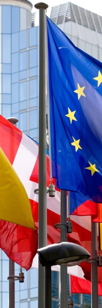 European Union flags, European Commission flags