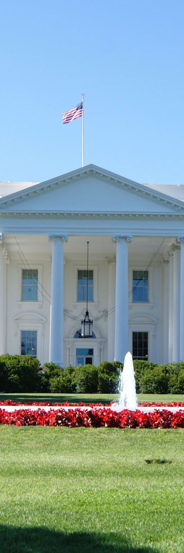 Whitehouse, the northern facade with a columned portico facing Lafayette Square