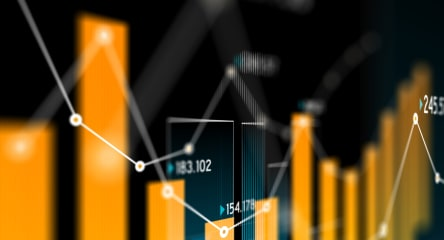 Financial data bar chart