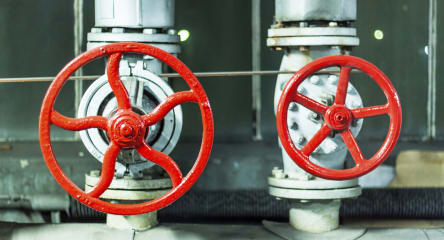 Red safety valves, oil & gas