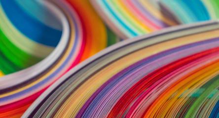 Rainbow swirls.