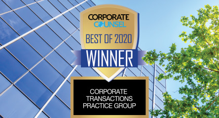 Shearman & Sterling Ranked #1 Corporate Transaction Practice in 2020 by Corporate Counsel