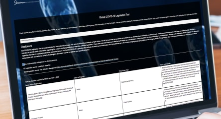 Shearman & Sterling's Global COVID-19 Legislation Tool