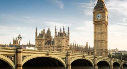 London bridge with view of Big Ben