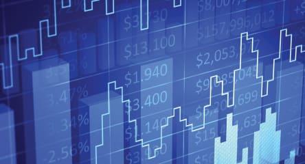 Financial chart, financial diagram
