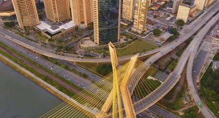 Aerial view of Sao Paulo