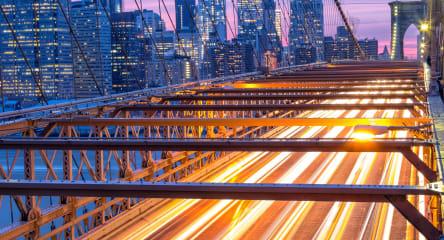 Manhattan skyline from Brooklyn Bridge