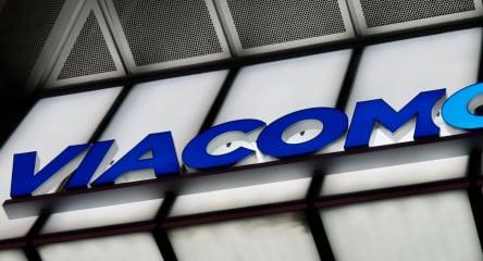 Viacom logo on building