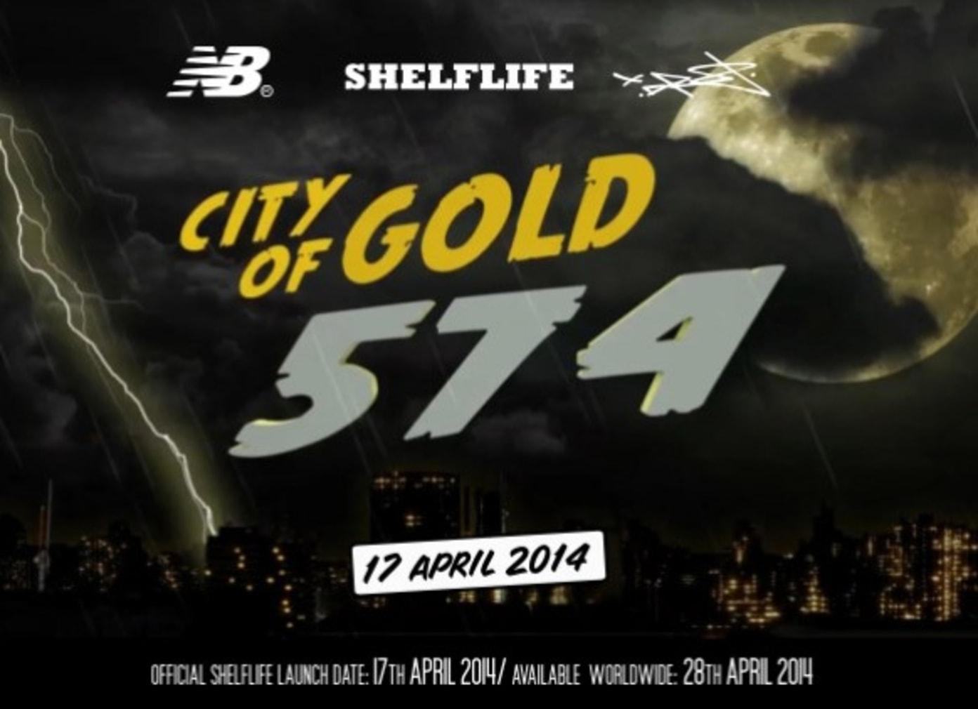 "New Balance x Shelflife x Dr.Z - ""City of Gold 574"""