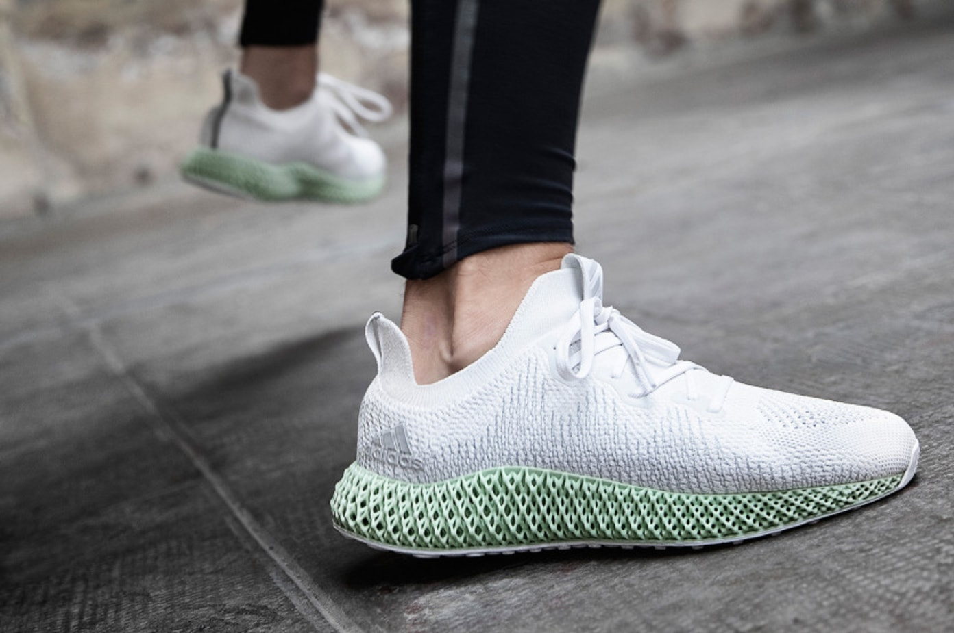 adidas Alphaedge 4D in Cloud White/Grey Two