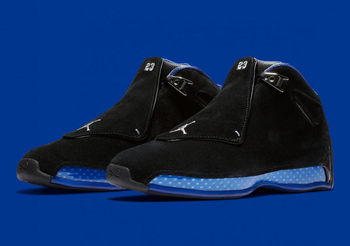Nike Air Jordan 18 Retro - Black/Sport