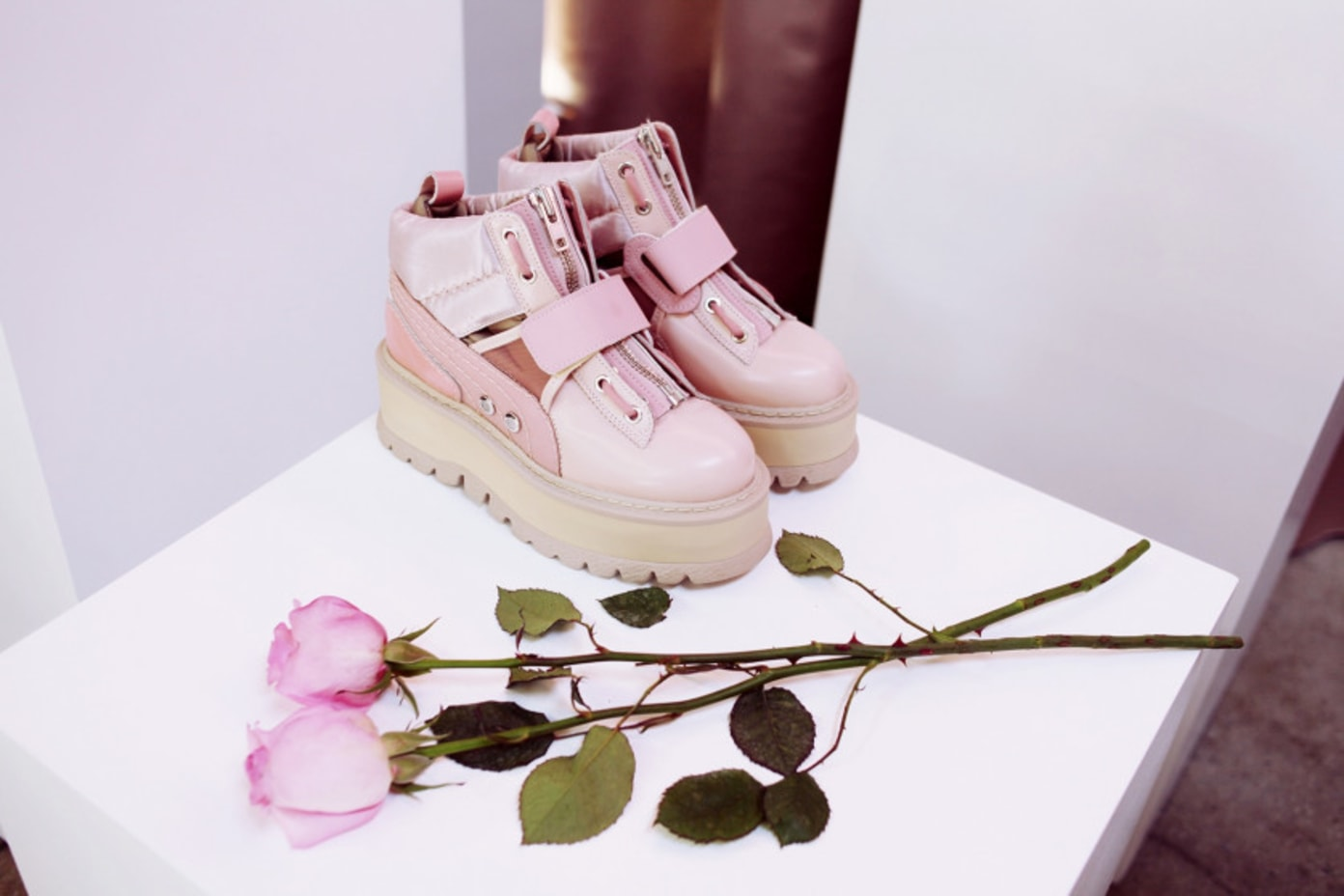 fenty puma strap platform sneaker boots