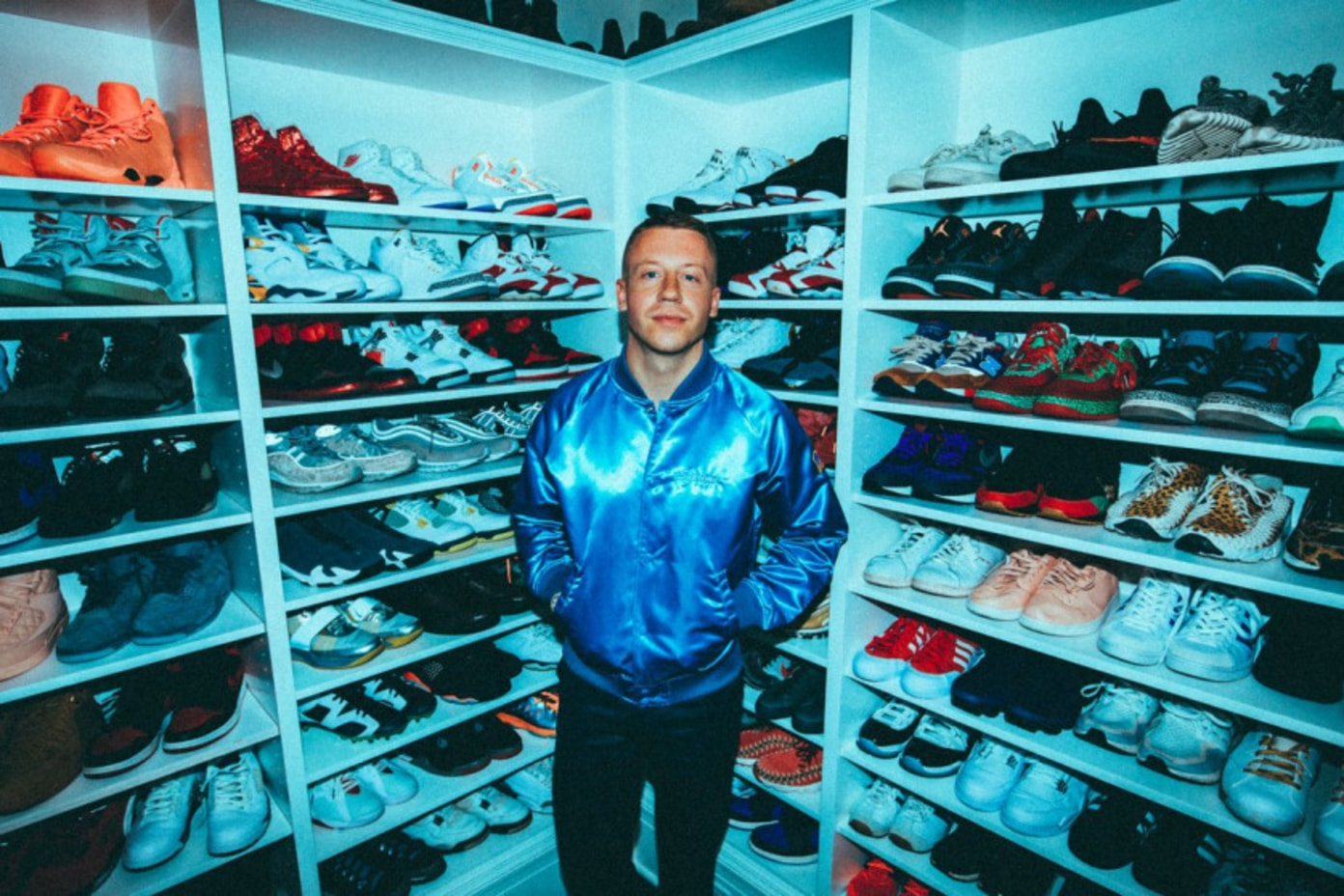 Macklemore Shows Off His Never-Before-Seen Jordan Collabs
