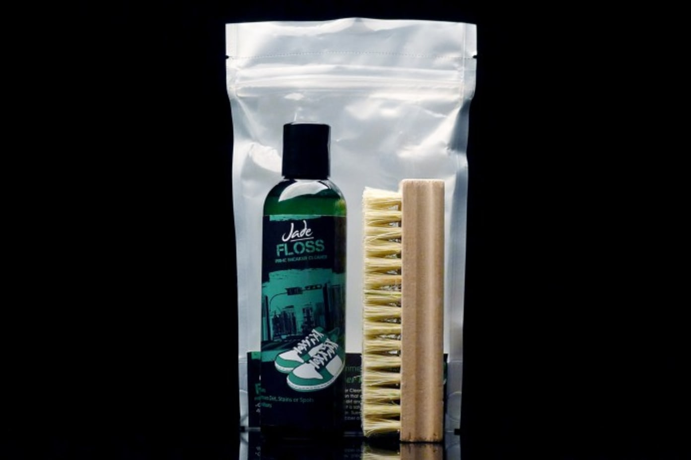 Jade Floss Sneaker Cleaning Products Available at Shelflife