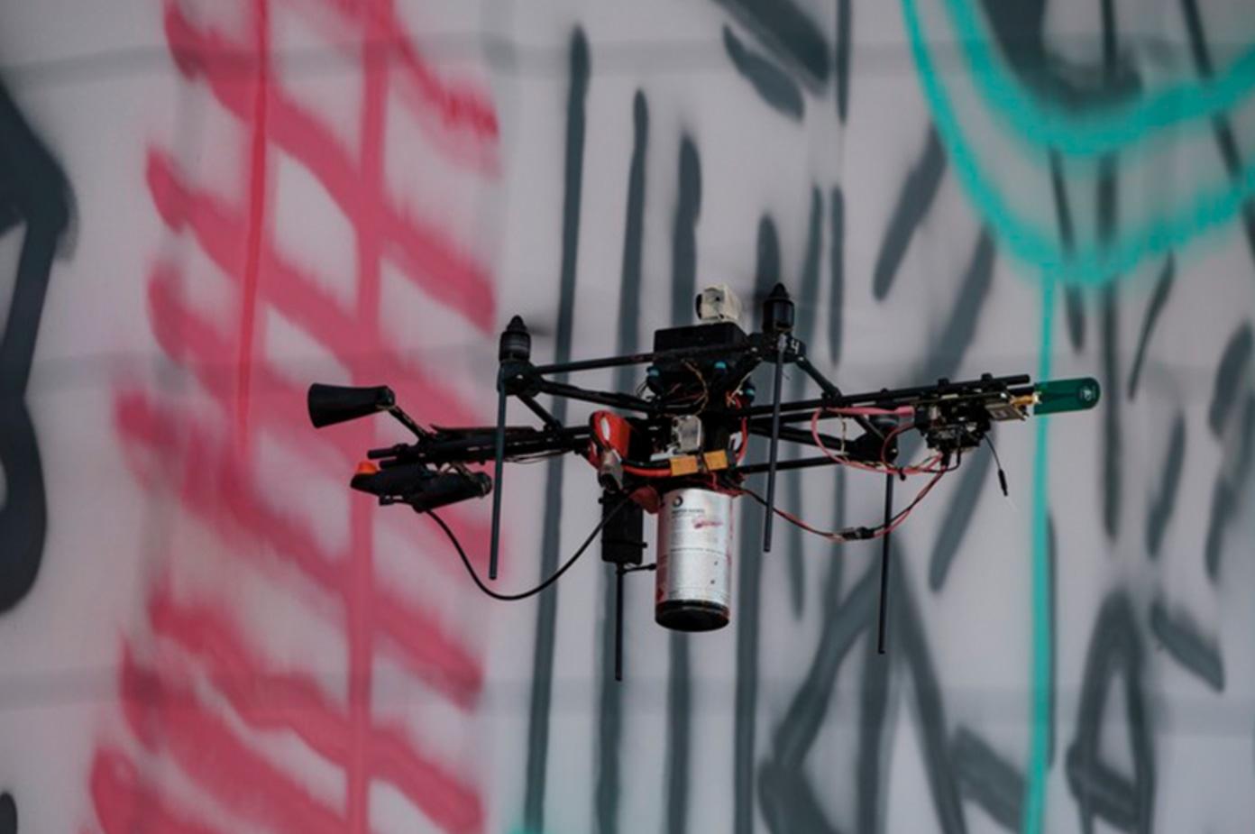 Watch A Swarm of Drones Do Graffiti
