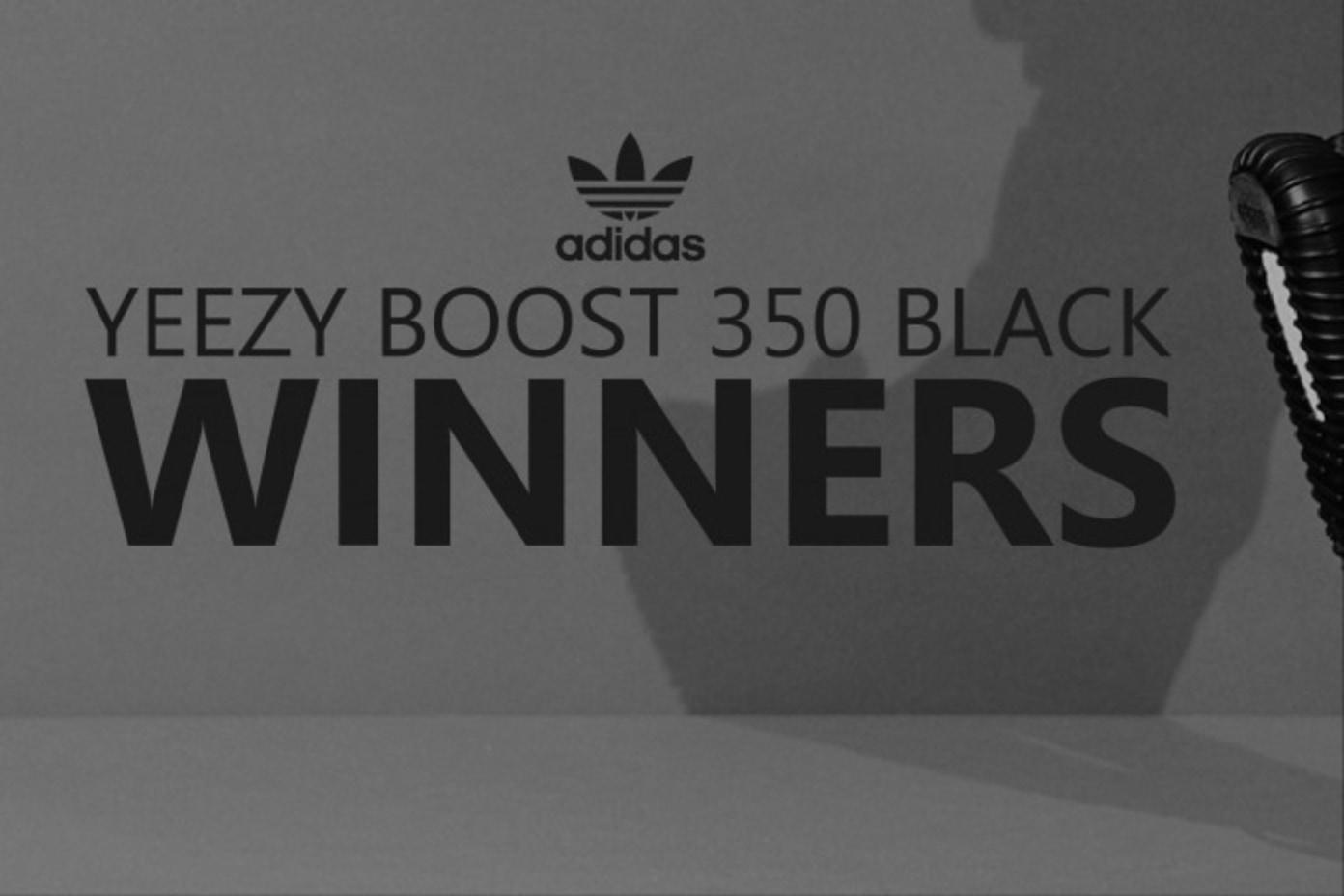 Yeezy Boost 350 Black Online Raffle Winners