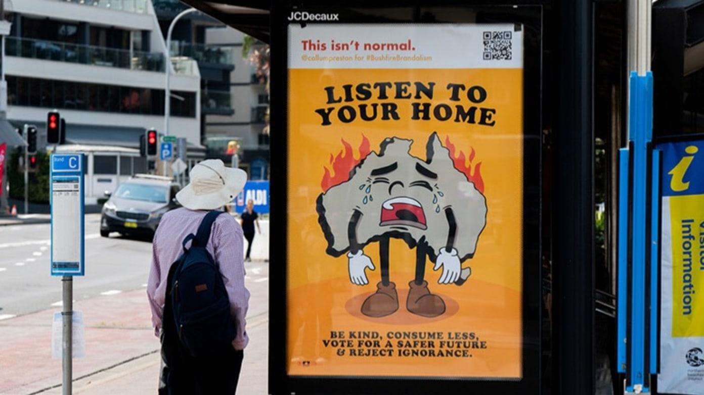 BUSHFIRE BRANDALISM: Guerrilla Art Against Climate Change in Australia