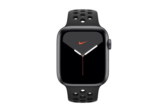 Apple Watch Series 5 44mm GPS Aluminium Case with Anthracite/Black Nike Sport Band  - default