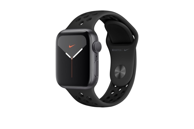 Apple Watch Series 5 40mm GPS Aluminium Case with Anthracite/Black Nike Sport Band  - default