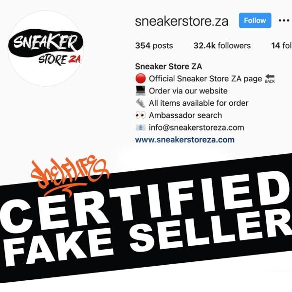 Fake Fridays: SneakerStoreZA