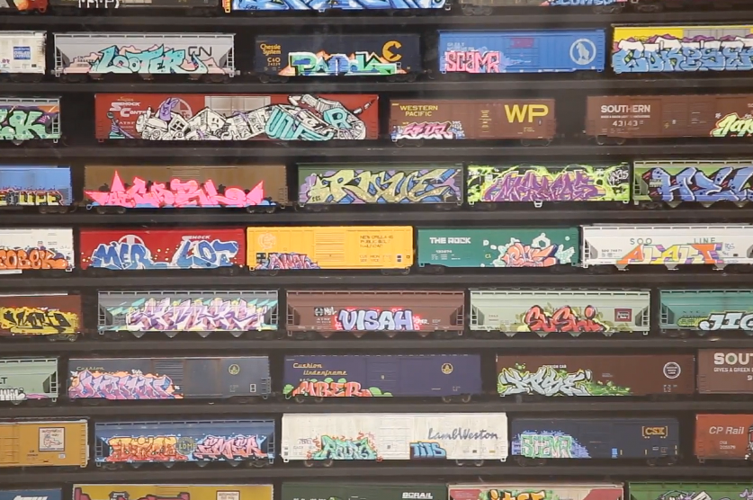 Tiny Giants: The World's Largest Graffiti Model Train Collection in LA