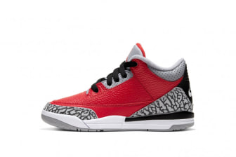 Air Jordan 3 SE Pre School 'Red Cement'