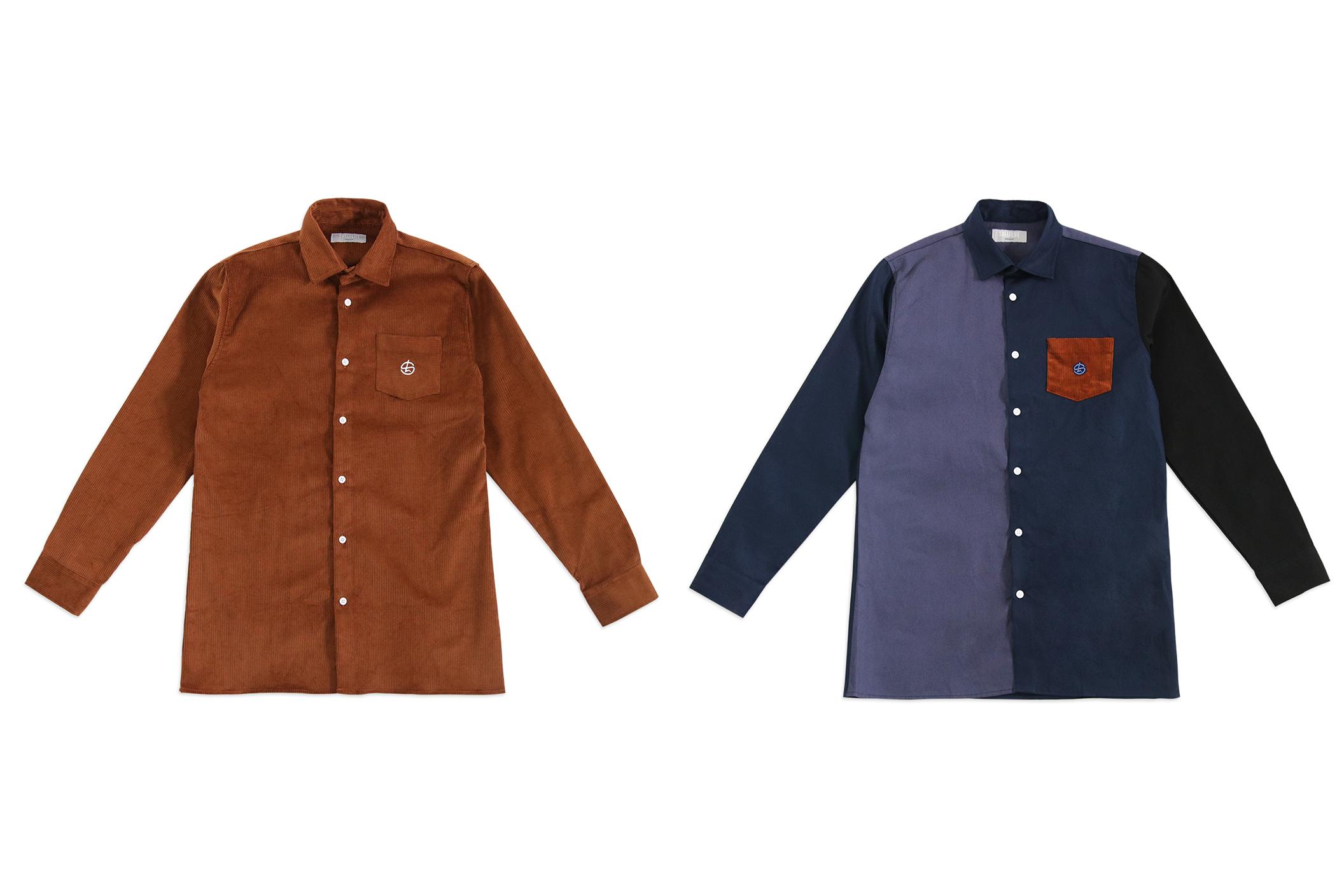 Shelflife W20 Button-Up Shirts Corduroy and Navy