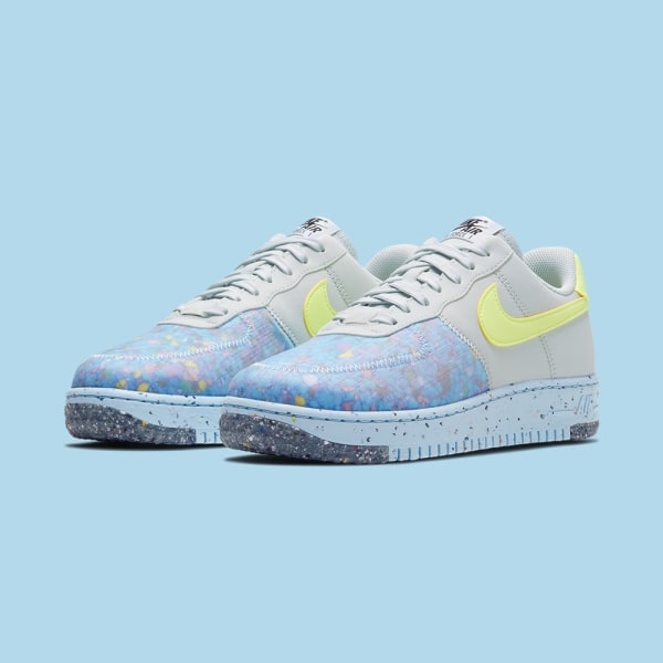 Nike Women's Air Force 1 Crater - Pure Platinum/Chambray Blue