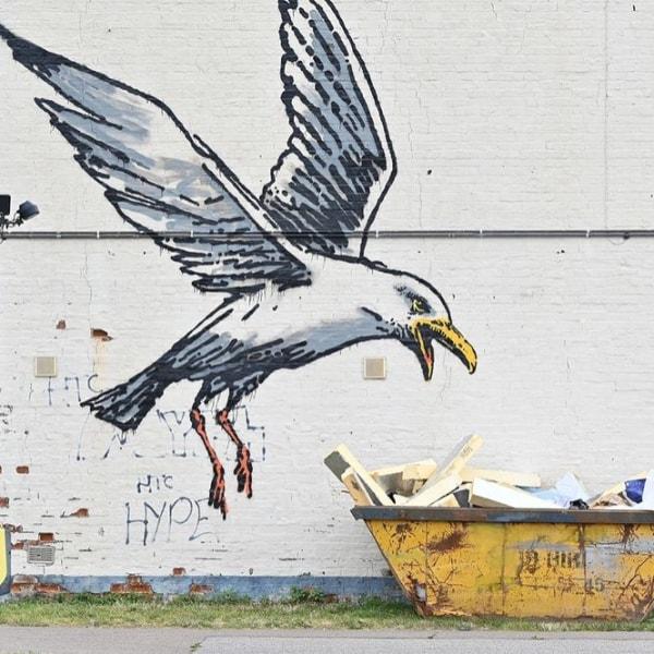 New Banksy Works Found  Around English Coastal Towns