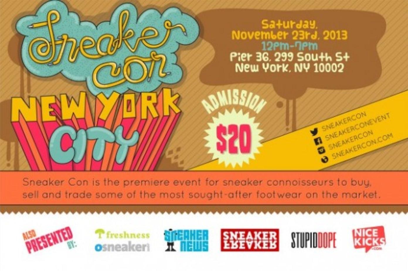 Sneaker Con NYC November 23rd