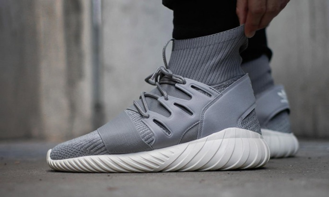 adidas Originals Tubular Doom Primeknit Solid Grey & Core Black