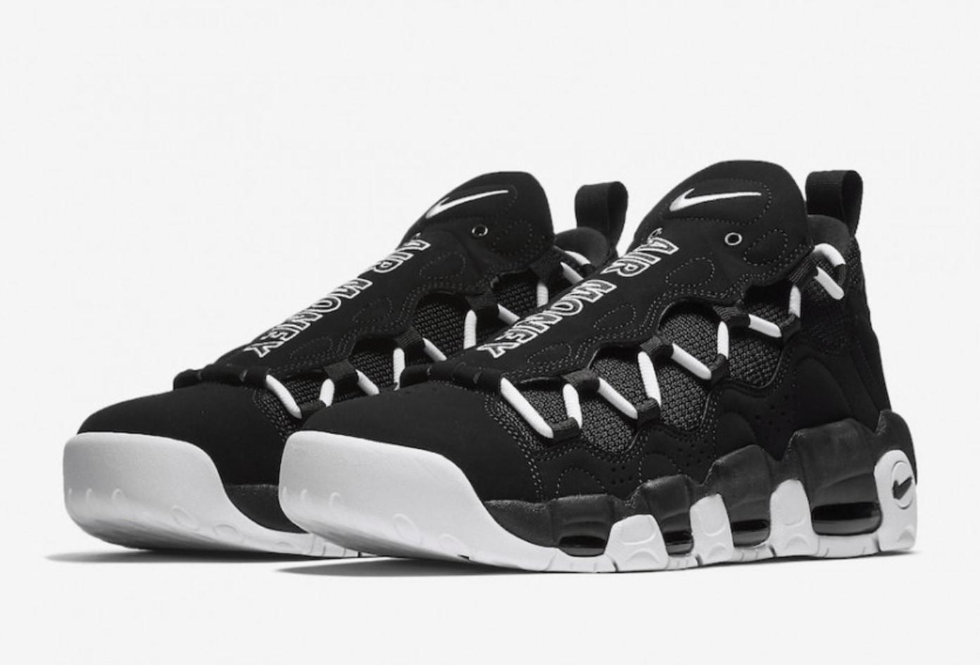 Nike Air More Money In Black/White